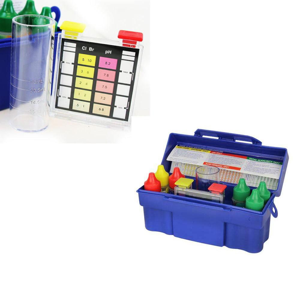 XtremepowerUS 5 Way Pool Water Tester Kit Chemical Test Kit