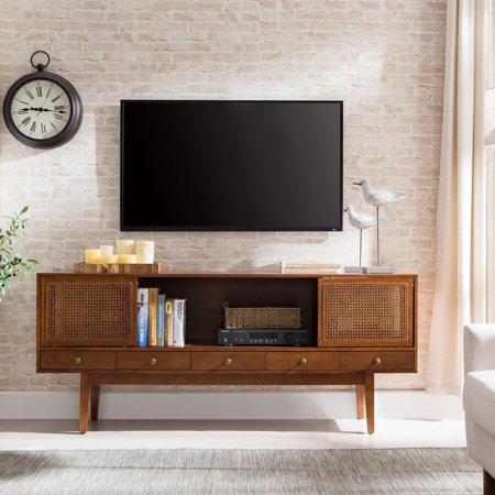 Dark Bronze Center - Holly & Martin Simms Midcentury Modern Media Console, for TVs up to 68