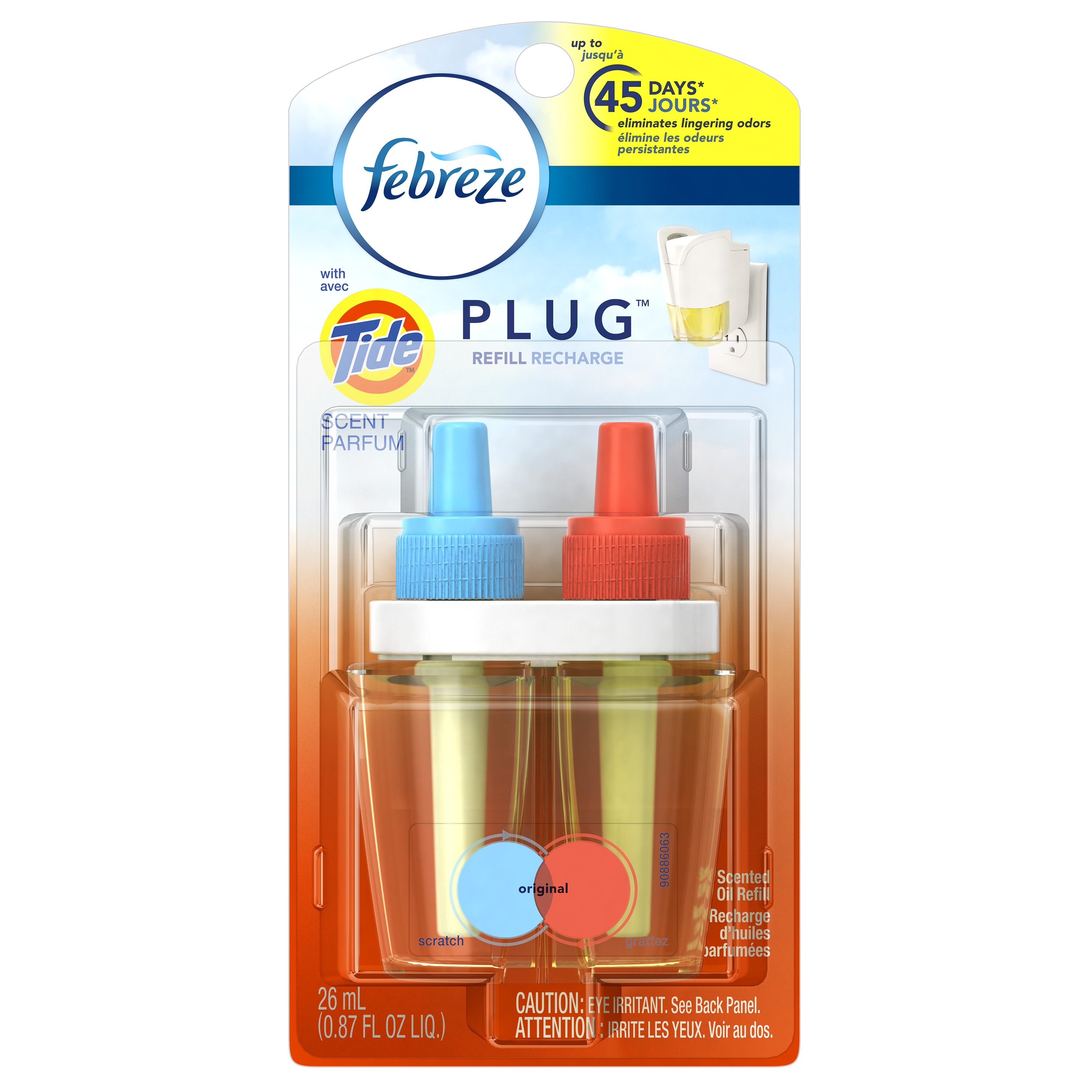 Febreze PLUG Air Freshener Refill with Tide Original (1 Count, 0.87 oz)