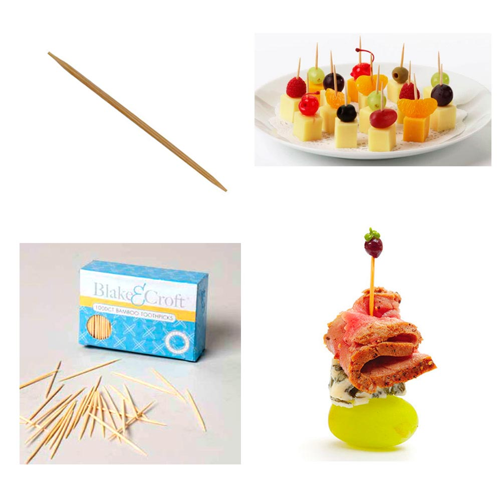 1000 Bamboo Toothpick Natural Wooden Round Oral Dental Care Catering Party New !
