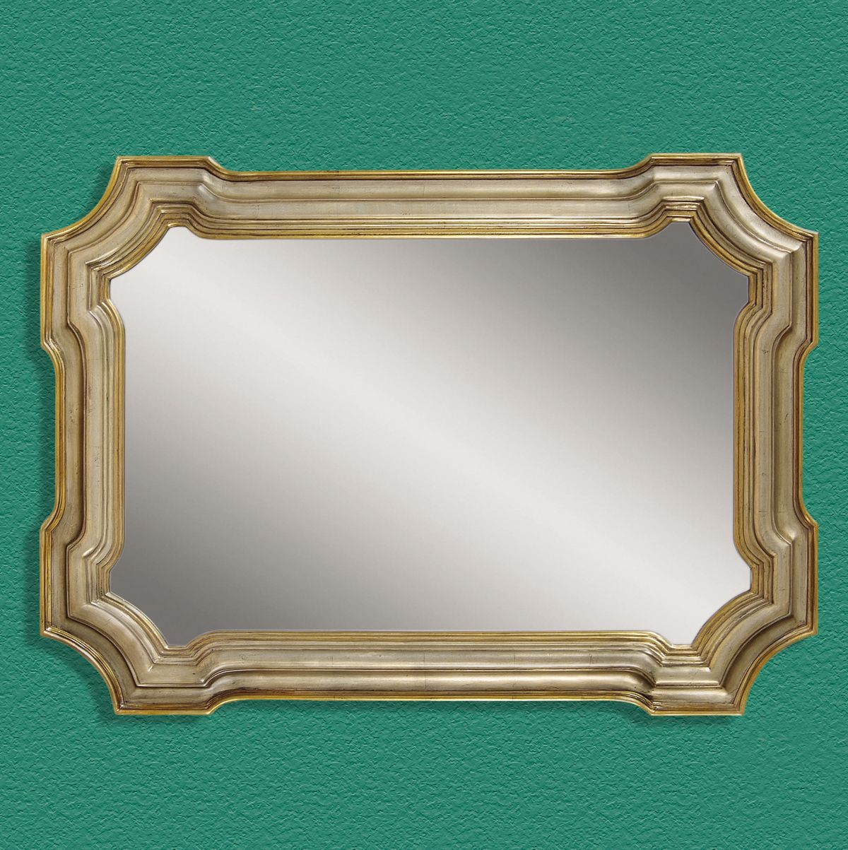 Bassett Old World Angelica Wall Mirror in Silver and Gold
