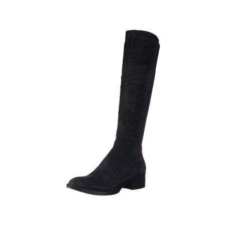 Kenneth Cole New York Women's Levon Tall Shaft Pull On Boot Knee High Chocolate Lizard Boots
