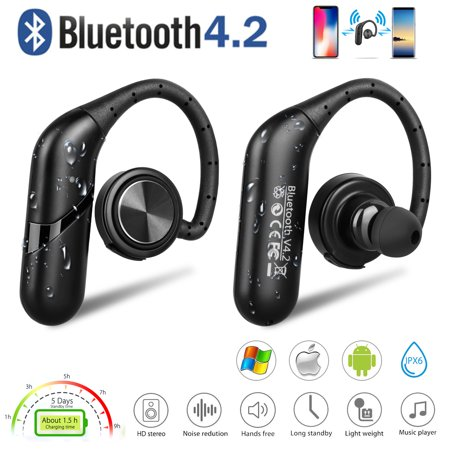 Wireless Earbuds with 4.2 Bluetooth HD Voice Technology Wireless Stereo Headset with Handsfree Noise Reduction for iPhone and