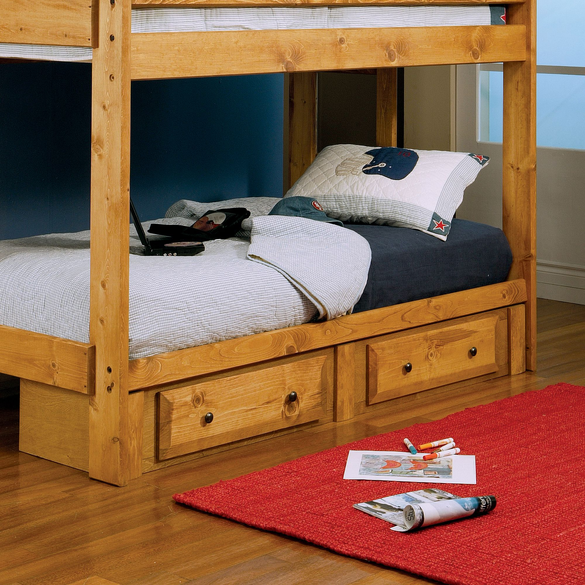 Coaster Company Wrangle Hill Under Bed Storage, Amber Wash Finish by Coaster of America