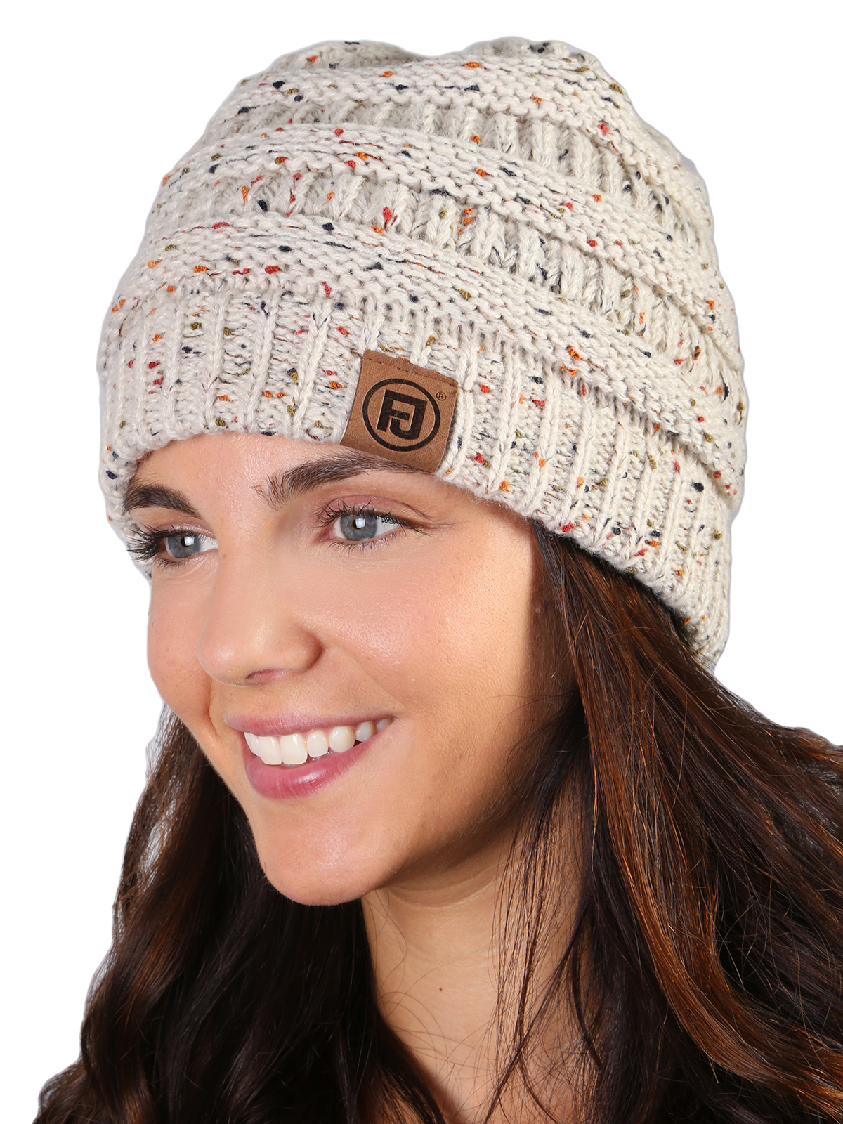 Funky Junque s FJ Knit Cap Women s Men s Winter Hat Soft Slightly Slouchy Confetti  Beanie - Oatmeal - Walmart.com 054e5181b3b