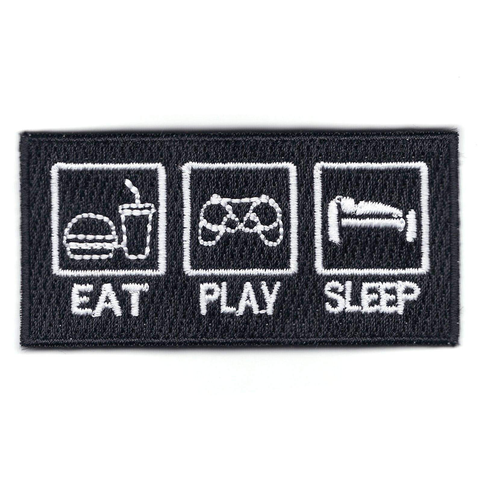 Eat Play Sleep Gamer Sign Iron On Patch