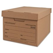 Nature Saver, NAT26760, Recycled Storage Box, 12 / Carton, Kraft