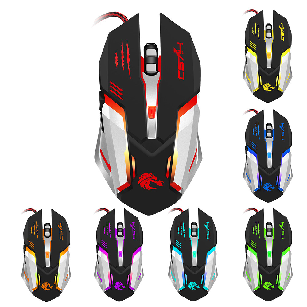 New Fashion 2.4G Adjustable 7 Buttons Optical USB Wired Gaming Game Mouse for PC Laptop BK