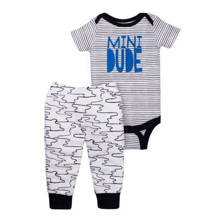 Newborn Baby Boy Bodysuit & Pants, 2pc Outfit Set - Newborn Halloween Outfit