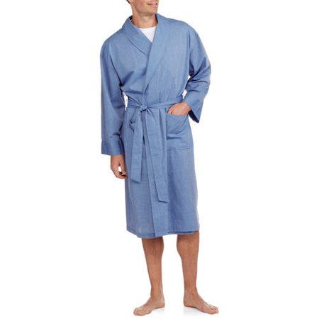 Hanes Big & Tall Men's Woven Shawl Robe - Onesies For Tall Men