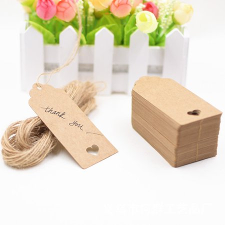 Heepo Retro Kraft Paper Tags DIY Craft Label Love Heart Hole Hanging Ornaments for $<!---->