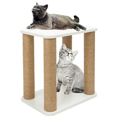 Modern Cat Furniture (Zimtown Wooden Desk Cat Tree Kitty Condo Tree Tower Scratcher Sleep Modern Furniture)