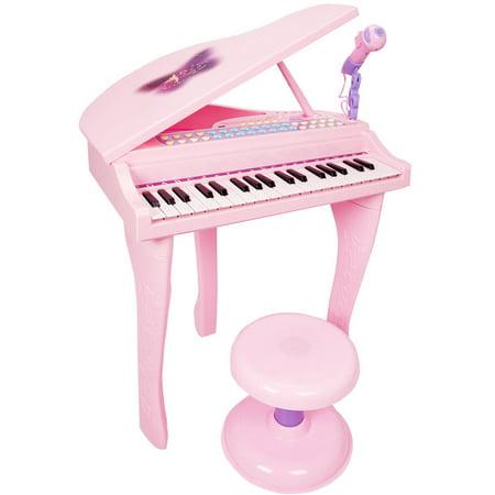 Costway 37 Key Kids Mini Toy Grand Piano Electronic