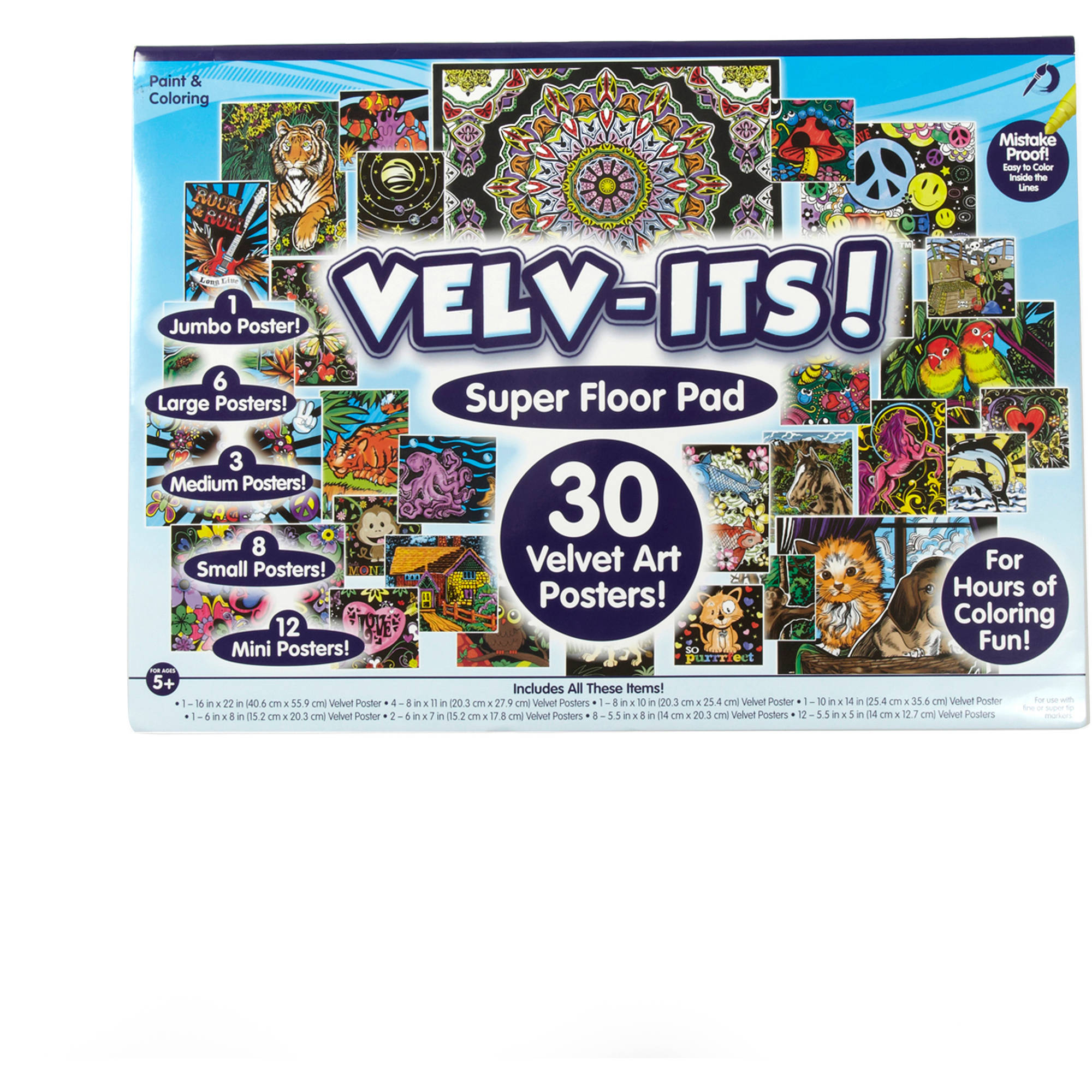 Velv-its Super Coloring Posters by Horizon Group USA