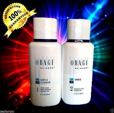 Obagi Nu-Derm Cleanse & Tone DRY - Gentle Cleanser & Toner