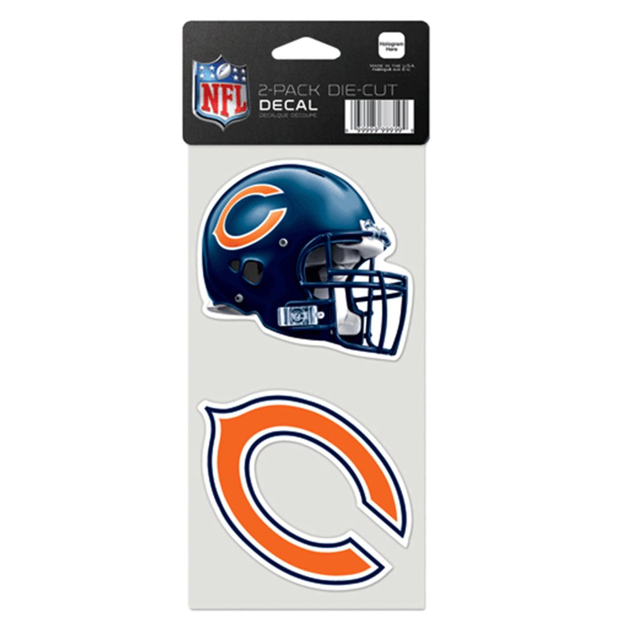 Chicago Bears 4x4 Die Cut Decal Set - Team Color