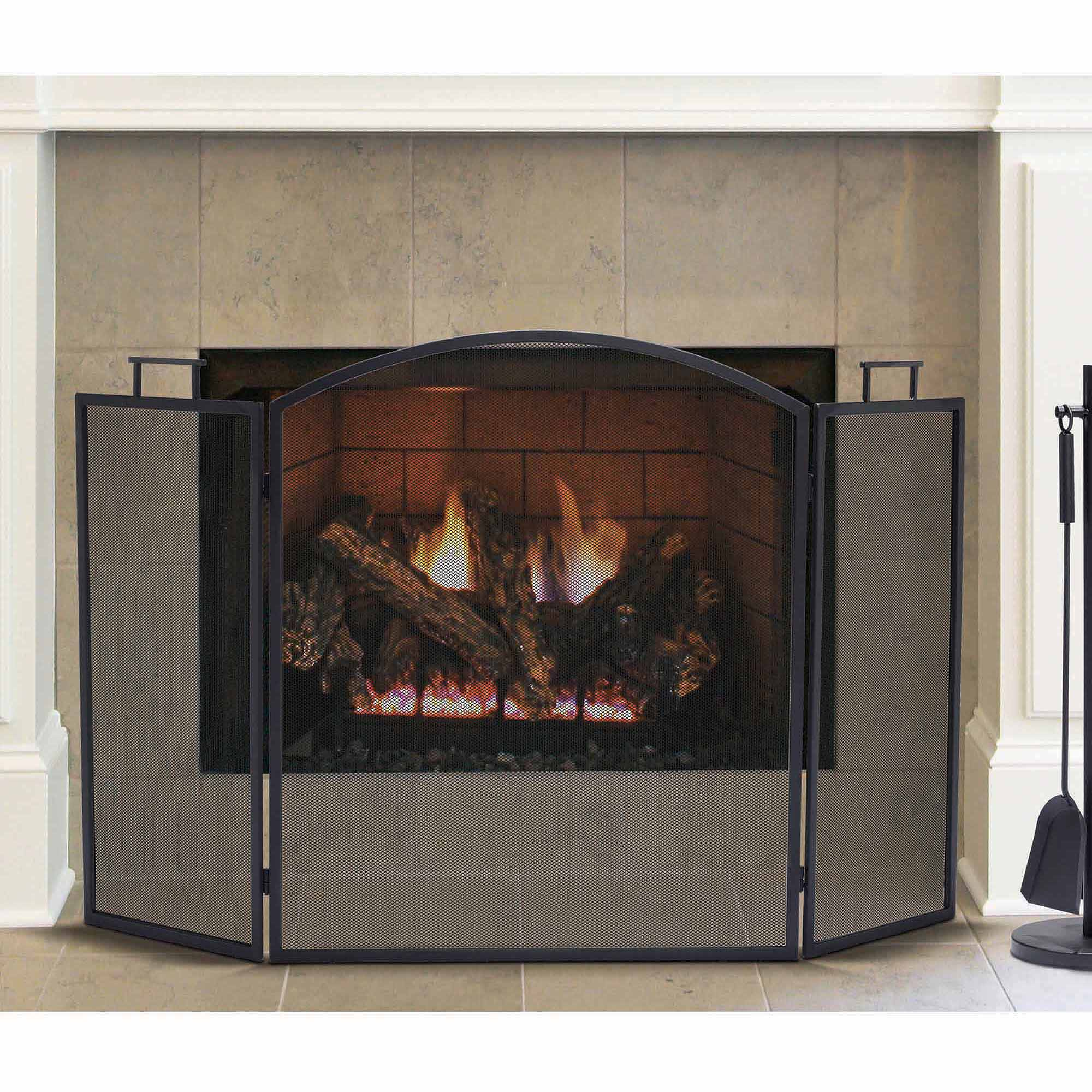 Pleasant Hearth Classic Fireplace Screen, Black