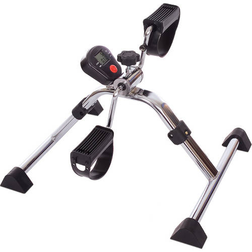 Essential Medical Supply Folding Pedal Exerciser with Tracking Meter for Calories and Distance