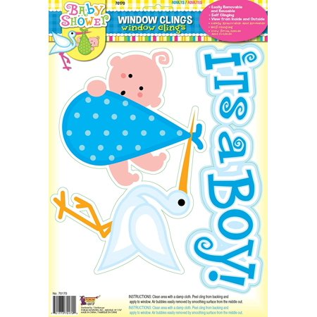 Decorating Your Garage For A Halloween Party (It's a Boy Baby Blue Window Cling Party Shower Decoration, Window cling is a fast and easy way to decorate and announce your new bundle of joy By Forum)