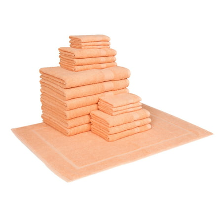 Image of Hillsboro 19 Piece Towel Set in Coral