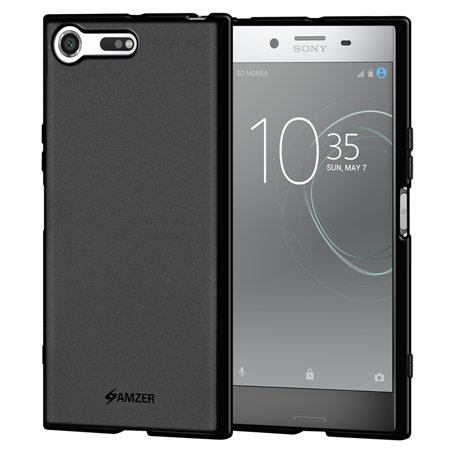 Black Screen Kit (Sony Xperia XZ Premium Case, Premium ShockProof TPU Case Back Cover with Screen Cleaning Kit for Sony Xperia XZ Premium - Black)