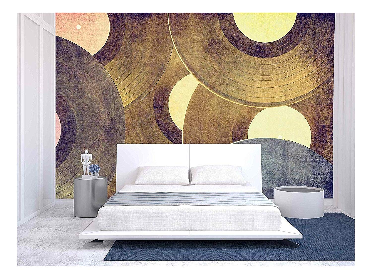 Wall26 Vinyl Records Music Background Removable Wall Mural