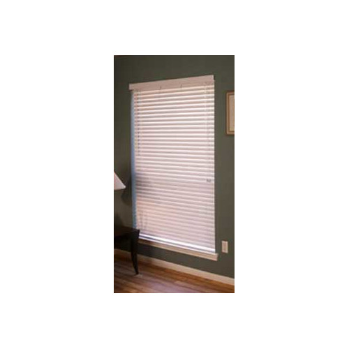 Fauxwood Impressions Room Darkening White Venetian Blind