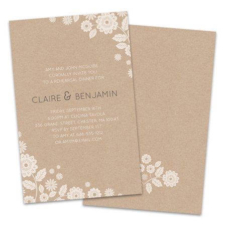 Floral Corners Personalized Rehearsal Dinner Invitations Destination Rehearsal Dinner Invitations
