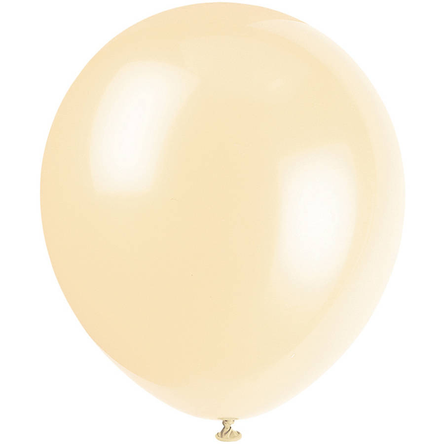 "12"" Latex Ivory Balloons, 10ct"
