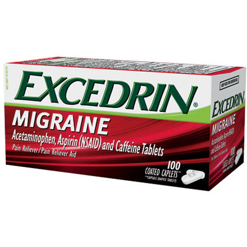 Excedrin Migraine Pain Reliever/Pain Reliever Aid, 100 ct