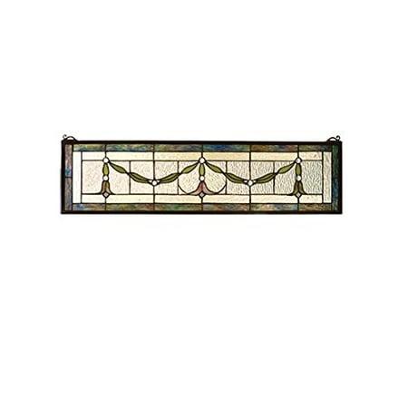 """Meyda Tiffany 98102 Garland Swag Stained Glass Window, 31.5"""" Width x 8"""" Height"""