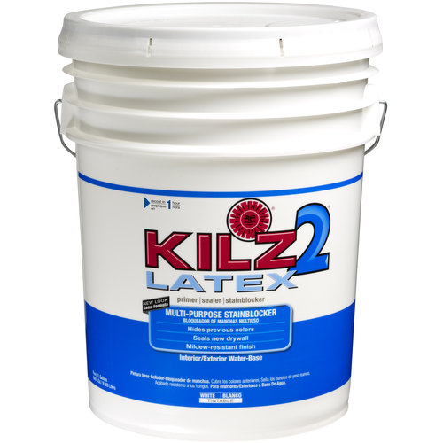 kilz select look interior exterior satin paint primer in one white 1 gallon. Black Bedroom Furniture Sets. Home Design Ideas