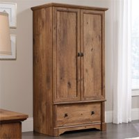 Pemberly Row Wardrobe Armoire in Vintage Oak