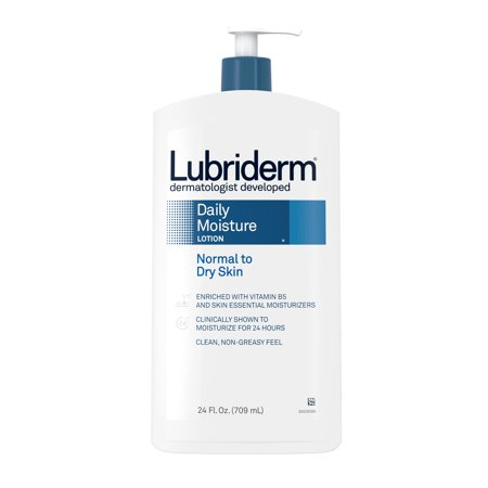 Lubriderm Daily Moisture Hydrating Lotion with Vitamin B5, 24 fl. oz Super Hydrating Moisture Lotion