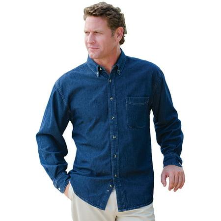 Jonathan Corey Men's Denim Long Sleeve Shirt