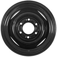 "Conventional Steel Trailer Wheel Rim Black 15X6 6 Hole 5.5"" Circle 15"" X 6"""