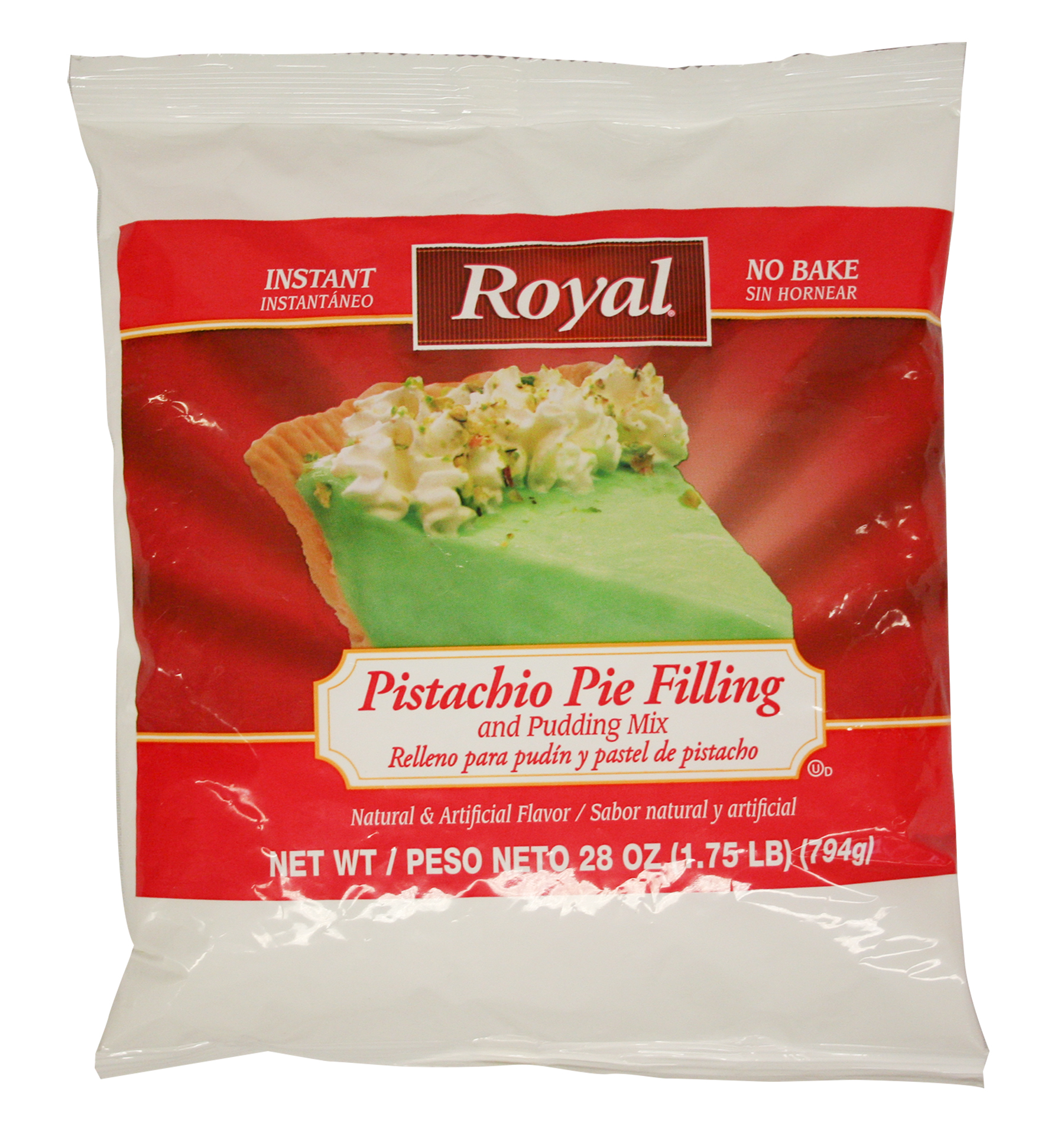 Royal Clabber Instant Pistachio Pudding and Pie Filling Mix 28oz (PACK OF 12)