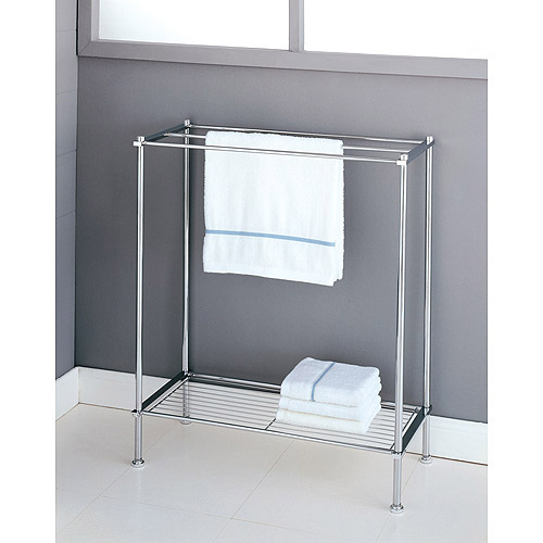 Neu Home Standing Towel Rack with Shelf