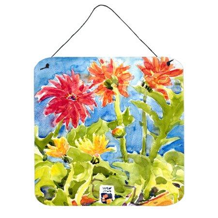 Flower - Gerber Daisies Aluminium Metal Wall or Door Hanging (Gerber Daisy Decor)