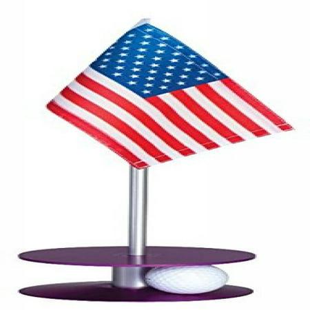Anne Stone Golf Putt-A-Round Putting Aid American Flag Purple Base