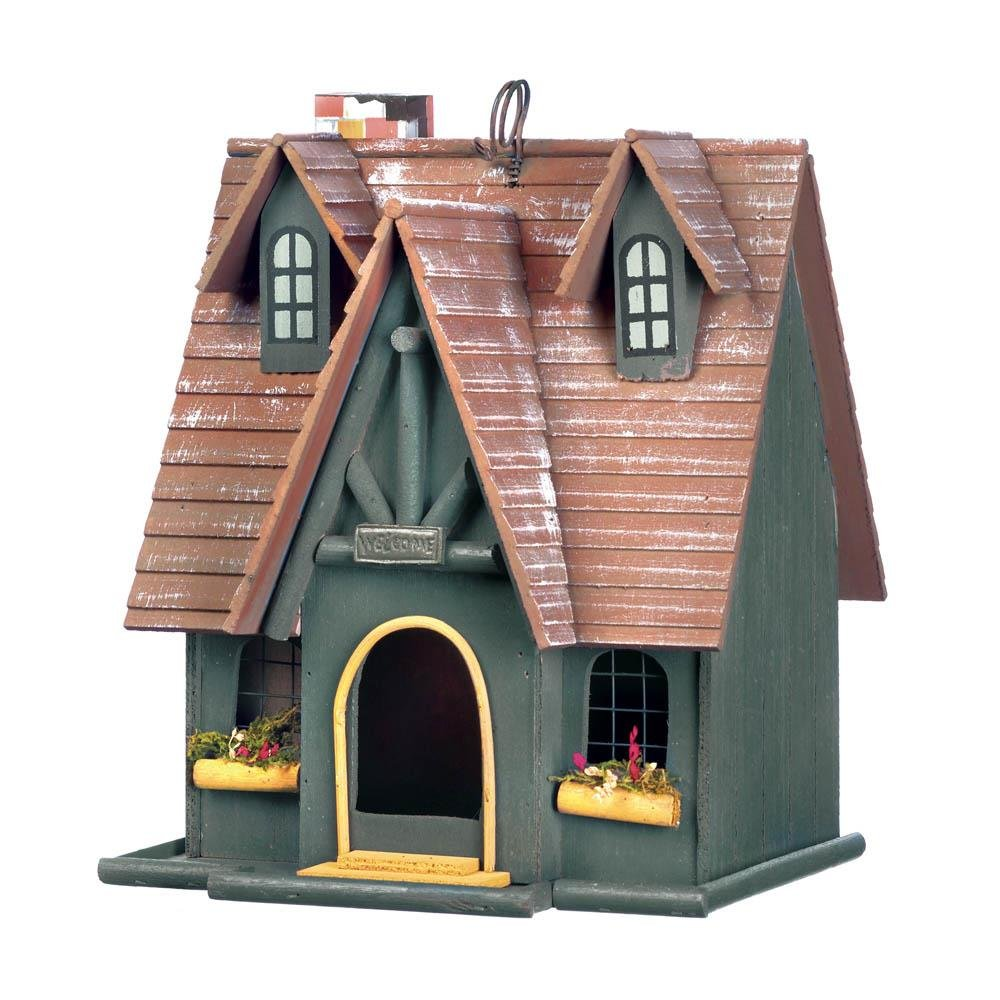 Birdhouse Outdoor, Hanging Storybook Finch Modern Small Garden Robin Birdhouse