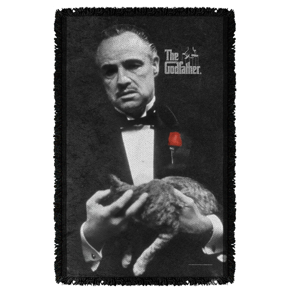 Godfather Poster Woven Throw White 48X80