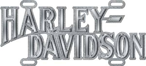 Harley-Davidson Chrome Script Die Cast Auto Tag by CHROMA GRAPHICS