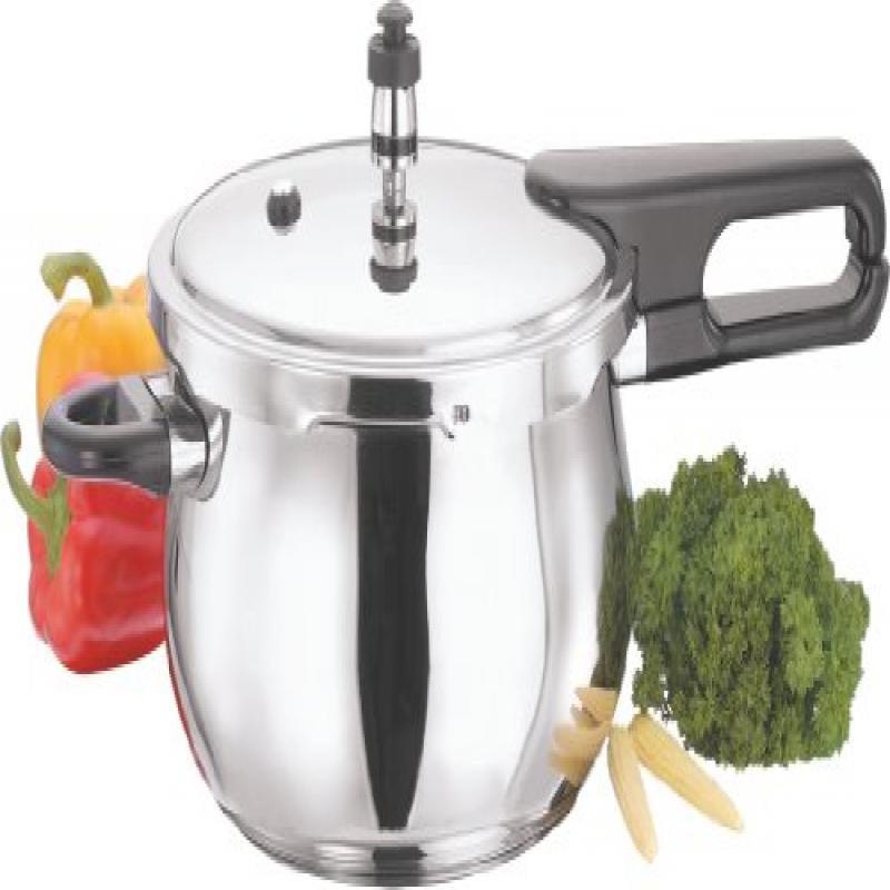 Gandhi - Appliances Vinod V-3.5L Splendid Plus Handi Stainless Steel Pressure Cooker, 3.5-Liter
