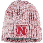 Nebraska Huskers New Era Women's Sideline Team Logo Cuffed Knit Hat - White - OSFA