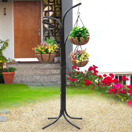 Yaheetech 4 Arm Tree Plant Stand Hanging Holder Baskets /w ... on Hanging Plant Stand  id=83050