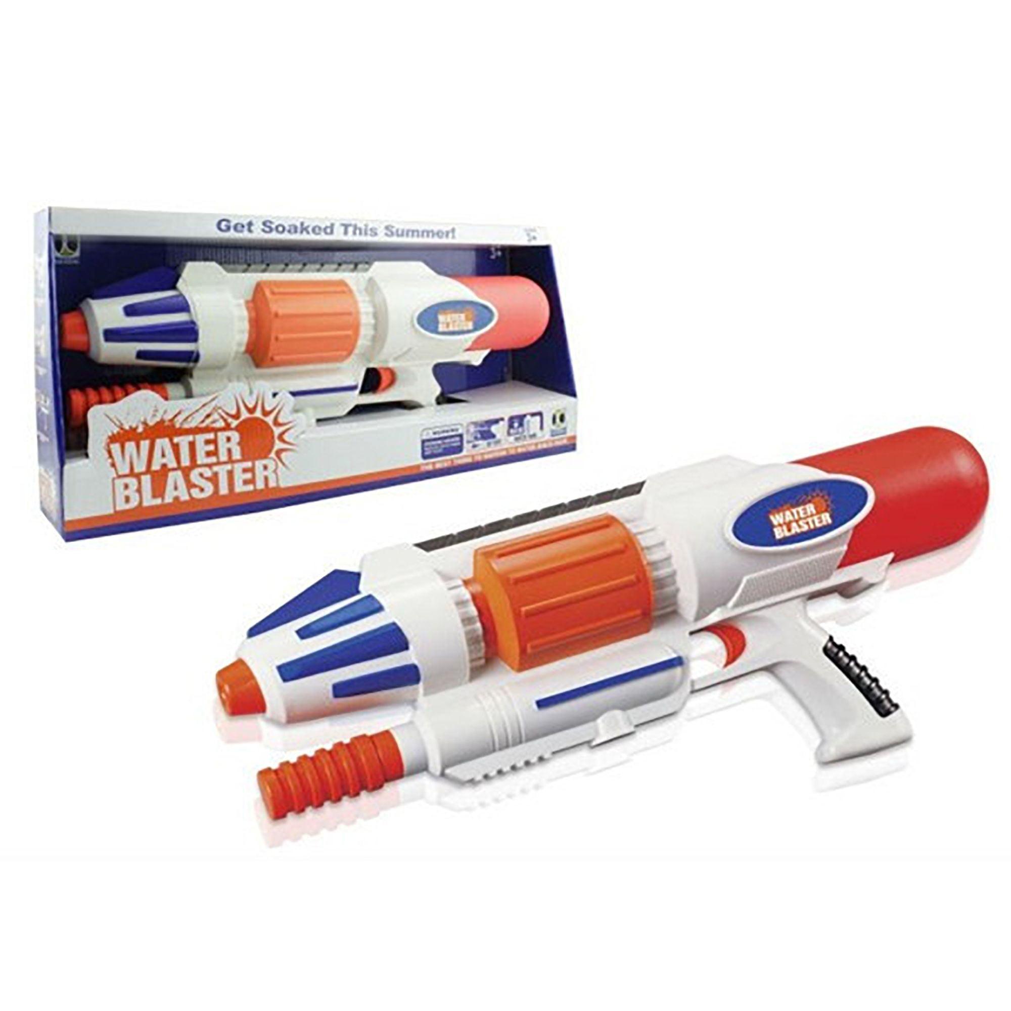 "15"" High Pressure Water Gun Power Pump Blaster Summer Beach Toys (White) (Gift Idea)"