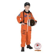 Kid's Orange Junior Astronaut Costume