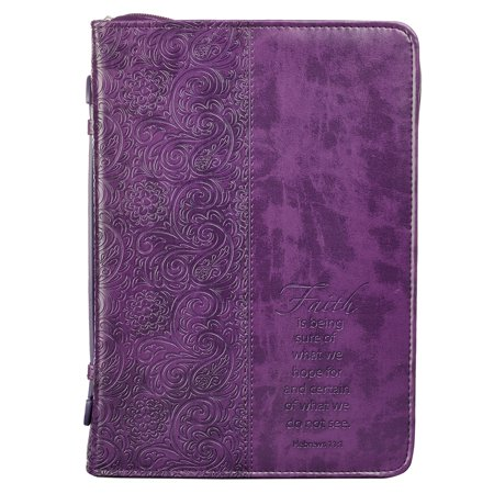 Purple Bible Cover (Bible Cover Xlarge Luxleather Purple/Faith)