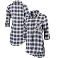Washington Huskies Concepts Sport Women Forge Rayon Flannel Long Sleeve Button-Up Shirt - Purple/Black